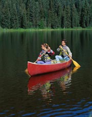 Canoe ride; Actual size=130 pixels wide
